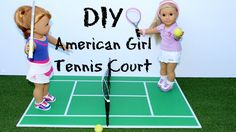 DIY American Girl Tennis Court Craft