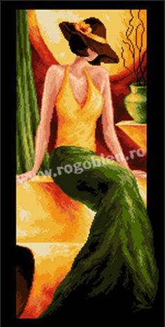 Cod produs Domnisoara in verde Culori: 22 Dimensiune: 15 x Pret: lei Cod, Disney Characters, Fictional Characters, Stitch, Disney Princess, Painting, Chic, Punto Cruz, Dots