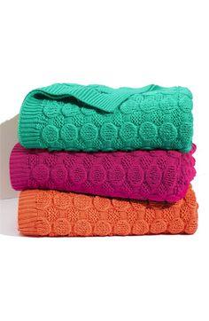 bubble wrap knit throw