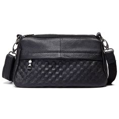 Sale 23% (32.68$) - Women Genuine Leather Casual Shoulder Bag Daily Durable Crossbody Bags