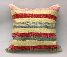 Kilim Pillow Cover Decorative Pillow Handmade Pillow Vintage Pillow Turkish Pillow Throw Pillow Kilim Pillow Kilim Cushion by TurqArts Kilim Ottoman, Kilim Cushions, 20x20 Pillow Covers, Cushion Covers, Sitting Pillows, Throw Pillows, Handmade Pillows, Decorative Pillows, Vintage Pillows