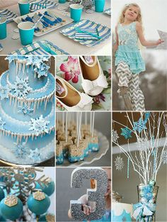 Frozen Birthday Party Ideas... also would be cute for a winter party!
