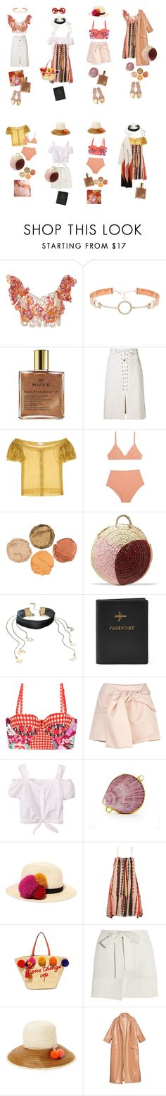 """""""Untitled #2254"""" by duumbblond ❤ liked on Polyvore featuring Johanna Ortiz, Cast of Vices, Mansur Gavriel, Nuxe, Sea, New York, Isa Arfen, Vanessa Seward, Sonia Rykiel, Free People and Maaji"""