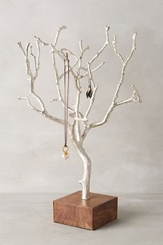 A gorgeous way to keep your favourites | tree branch jewelry stand #product_design #anthrofave by Anthropologie