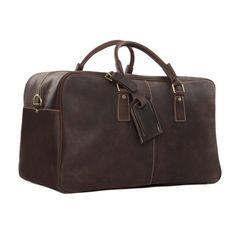 Super Large Leather Travel Duffle Bag Laptop Weekender Bag Overnight Bag  7156 Model Number  7156 dbe6b9647d