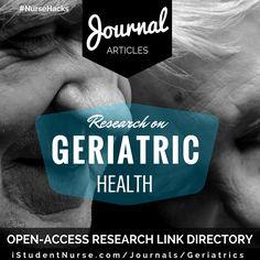 Geriatric Health Nursing research