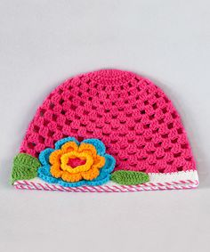Hot Pink Crochet Hat   Daily deals for moms, babies and kids