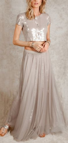 Tulle + sequins