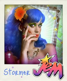 Jem And The Holograms Celebrity Mock Ups - Katy Perry as Stormer