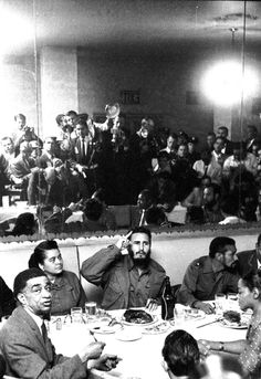 Fidel Castro in New York, September, 1960 Fidel Castro lectures the press (in mirror) in the restaurant of the Hotel Theresa in New York's Harlem District.