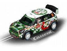 "The Carrera Mini Countryman WRC Equipe Palmeirinha Rally ""No.14"", RMC 2012 Evolution Series Slot Car, is a superbly detailed Carrera Evolution race car for use on any 1/32 analogue slot car layout."