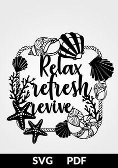 SVG / PDF cut file Paper Cutting Template Relax refresh