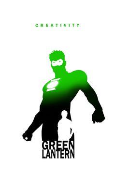 Green Lantern (Kyle Rayner): Creativity by Steve Garcia (DC) Green Lantern Kyle Rayner, Green Lantern Hal Jordan, Green Lantern Corps, Green Lanterns, Blue Lantern, Superhero Silhouette, Silhouette Art, Dc Comics Characters, Dc Comics Art