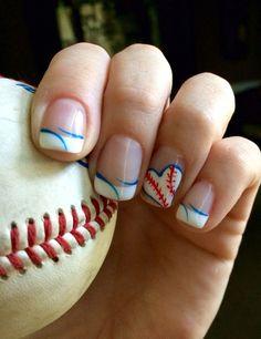 Nail designs cute nails designs pinterest baseball nails baseball nails prinsesfo Gallery