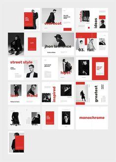HIPST Menswear Lookbook Catalog ~ Magazine Templates ~ Creative Market Design Portfolio Layout, Page Layout Design, Magazine Layout Design, Book Layout, Web Design, Booklet Design, Brochure Design, Editorial Layout, Editorial Design