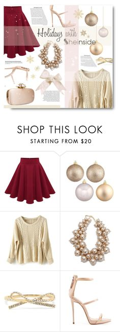"""Twenty-four-hour champagne diet"" by sunshineb ❤ liked on Polyvore featuring Giuseppe Zanotti, Oscar de la Renta and shein"