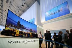 samsung has launched curved uhd tv having features like   • Multi-Link Screen (Dual) • Pur Colour, UHD Upscaling, Future Ready • Smart Hub, 3D, Auto Depth Enhancer • Smart Interaction, Quad Core+, Instant on