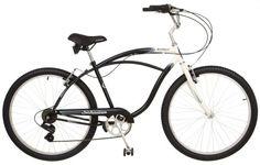Schwinn Southport Mens Cruiser Bike (26-Inch Wheels, Cream/Black)