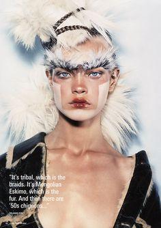 Natalia Vodianova, i-D Magazine, April 2002