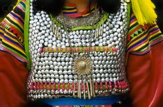 Thailand | Details from a Silver Lisu Blouse.  Chiang Mai | © Dallas and John Heaton/Free Agents Limited/Corbis