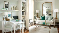 Beautiful small space - Sarah 101's Grown Up Condo with French inspiration and mint colour scheme.