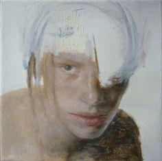 "Saatchi Art Artist: Yu Zhang; Oil 2010 Painting ""Staring"""