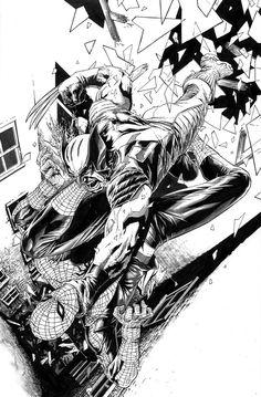 Spider-Man vs. Wolverine by Lee Bermejo
