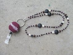 Mississippi State Bulldogs Beaded Lanyard by TheLanyardNecklace, $30.00