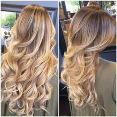 hair inspiration, blonde balayage