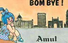 An Amul advertisement after the name of Bombay city was changed to Mumbai. Old Advertisements, Ads, Cartoon Sketches, Creative Visualization, City That Never Sleeps, Dream City, Logo Design, Graphic Design, Utterly Butterly