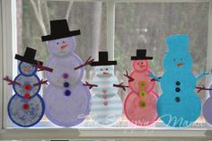 snowman diy craft   The Shopping Mama » Make Snowmen Indoors! Great Paper Craft for Kids