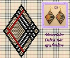 by Kaya Bijoux: Peyote Beading, Beading Techniques, Beading Tutorials, Seed Bead Jewelry, Seed Bead Earrings, Peyote Patterns, Beading Patterns, Motifs Perler, Brick Stitch