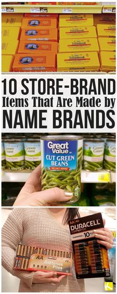 These 9 Store-Brand Items Are Made by Name Brands - Finance tips, saving money, budgeting planner Save Money On Groceries, Ways To Save Money, Money Tips, Money Saving Tips, Money Savers, Groceries Budget, Money Hacks, Store Hacks, Shopping Hacks
