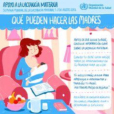 World Health Organization (WHO) (OMS) publica 4 infografías en español sobre cómo dar apoyo a las madres que amamantan: ¡cercano, continuo y oportuno! ¿Qué pueden hacer las madres?  #SemanaMundialLactanciaMaterna