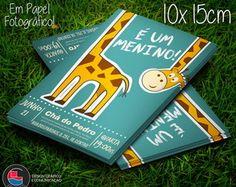 Convite Chá de Fraldas Girafa Cute 10x15