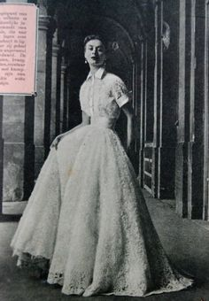 evening gown, Beatrijs 1951 (no, this is not a wedding dress)