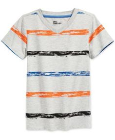 Epic Threads Little Boys' Striped V-Neck T-Shirt, Only at Macy's
