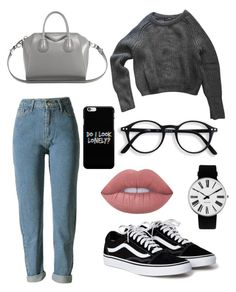 """Untitled #13"" by mara-mihaela on Polyvore featuring American Apparel, Lime Crime, Givenchy and Rosendahl"
