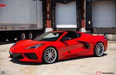 Yellow Corvette, Corvette Wheels, Corvette Zr1, Chevrolet Corvette, Custom Muscle Cars, Chevy Muscle Cars, Porche 911, Top Luxury Cars, Ad Car