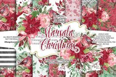 Marsala Christmas digital paper pack by designloverstudio on Envato Elements Art Design, Paper Design, Graphic Design, Watercolor And Ink, Watercolor Flowers, Christmas Background, Christmas Design, Christmas Gifts, Creative Sketches