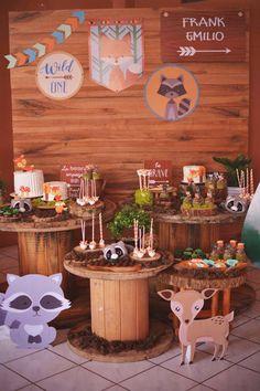 60 Ideas Baby Shower Ideas Bbq Theme For 2019 Wild One Birthday Party, 1st Boy Birthday, Forest Baby Showers, Fox Party, Woodland Baby, Baby Boy Shower, Shower Ideas, Bernardo, Knit Jacket