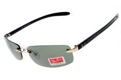Ray Ban Tech Rimless RB8304 Green Black Sunglasses
