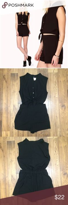 MAKE OFFER - Black Tie Top Romper LOVE this but never got to wear it & it's too big on my now. Perfect piece for a casual summer outing or to dress up for a night out! H&M Pants Jumpsuits & Rompers