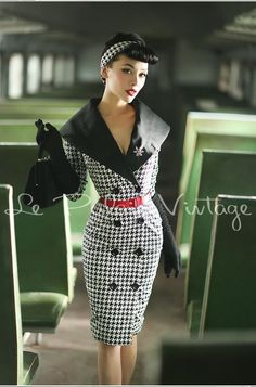 le palais vintage retro double-breasted large lapel dress (SIZES:XS, S, M, L,)  #Handmade #WigglePencil