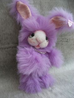 Bunny by Bedlam bears ooak lilac purple