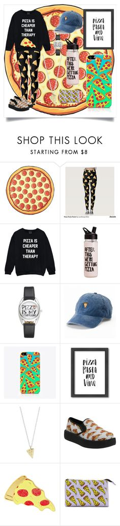 """Pizza party"" by prettyonthehorizon ❤ liked on Polyvore featuring ban.do, SO, The Small Print., Americanflat, Rock 'N Rose, T.U.K. and Forever 21"