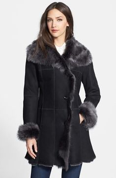 $2,250, Hide Society Hidesociety Genuine Shearling Coat. Sold by Nordstrom. Click for more info: https://lookastic.com/women/shop_items/109918/redirect