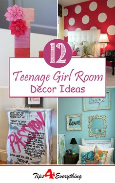 12 simple and cool ideas that you can implement into your DIY teen room decor project.