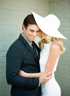 White engagement inspiration: http://www.stylemepretty.com/2014/07/31/classic-black-and-white-wedding-inspiration/ | Photography: Clayton Austin - http://loveisabird.com/
