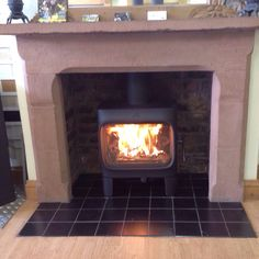 One of our new woodburners for 2015. The jotul F305 under fire in our showroom in Carlisle